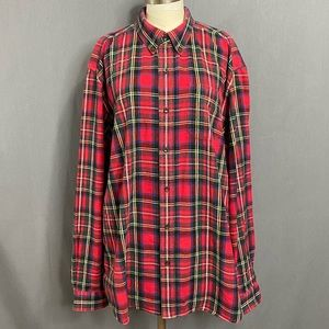L.L. Bean Plaid 100% Button Up Shirt